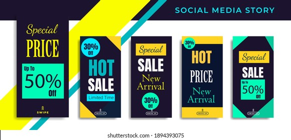 Social media post, creative, shapes, status, bundle, arrival, advertisement, price, shopping, highlight, background banner, digital poster, social media, sale banner, media, collection, discount, webs