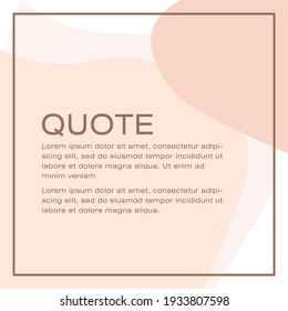 Social media post template design with a dummy text, elegant square cover layout design