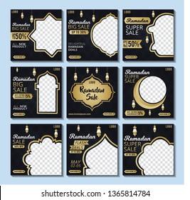 Social media post template ramadhan discount