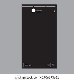 social media post template vector. Instagram template. Instagram stories template.