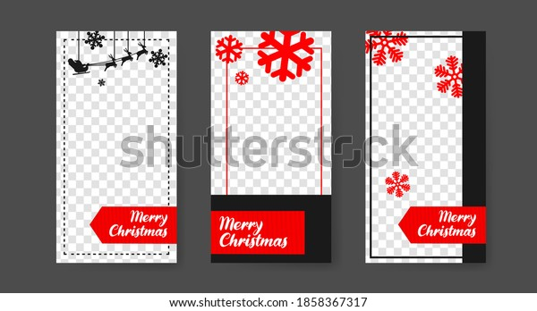 Social media post templates for digital marketing and sales promotion on christmas and new year. fashion advertising. Offer social media banners. vector photo frame mockup illustration