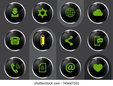 social media professional web icons for your design