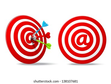 social media red darts target aim