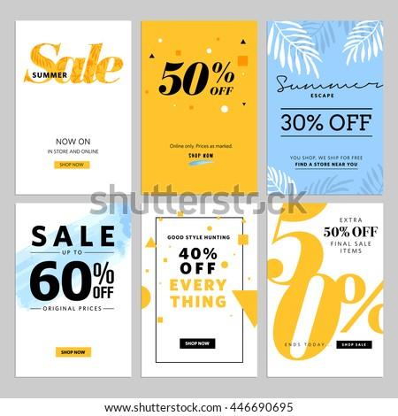 social media sale banners ads web のベクター画像素材 ロイヤリティ
