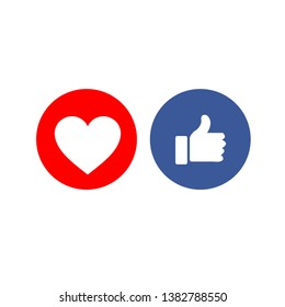 Social media share icons showing approval