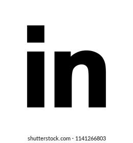 Social media symbol. Linkedin logo. Linkedin icon.