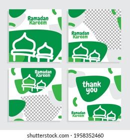 Social Media Template Of Ramadan Kareem