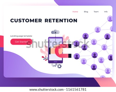 social media ultra violet landing page stock vector royalty free