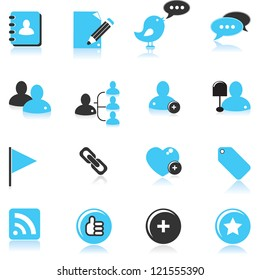 social media web icon set