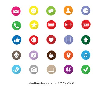 Social medias set icons