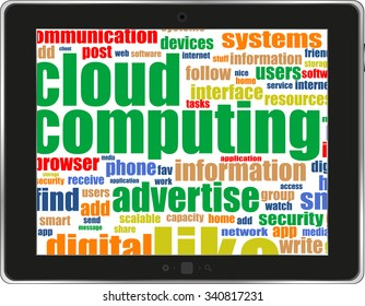 Social network concept: black tablet pc computer with text Social Network on display. Modern portable touch pad on White background vector illustration