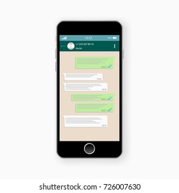 Social network concept. Blank template. Chatting and messaging. SMS messages sending. Vector modern chatting window. Chating and messaging concept. Social network concept. Chating messaging concept