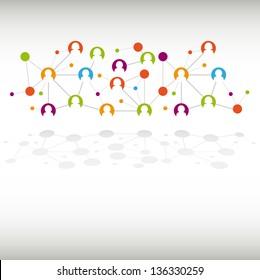 Social network internet chat community communication