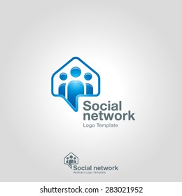 Social Network logo template.  Team Community Partners Corporate branding identity