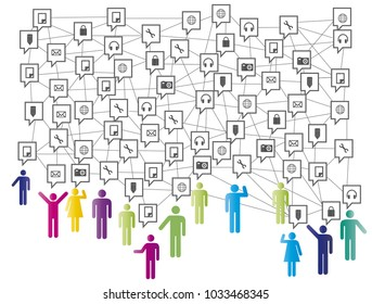 Social network, people connecting all over the world.