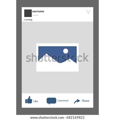 Social Network Photo Facebook Frame Vector Stock Vector (Royalty ...