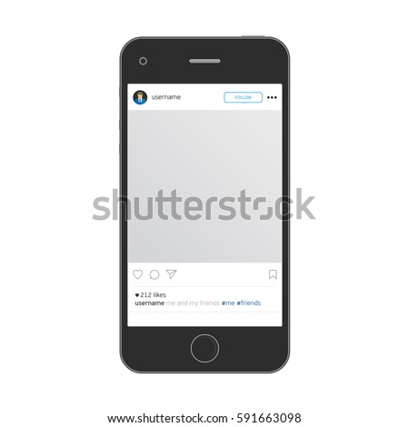 Social Network Photo Frame On Smart Stock Vector (Royalty Free ...