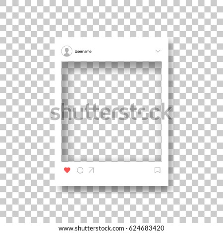 Social Network Photo Frame Post Template Stock Vector (Royalty Free ...