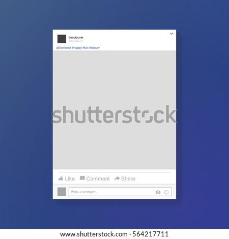 Social Network Photo Frame Vector Illustration Stock Vector (Royalty ...