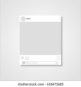 Social network post frame Vector illustration
