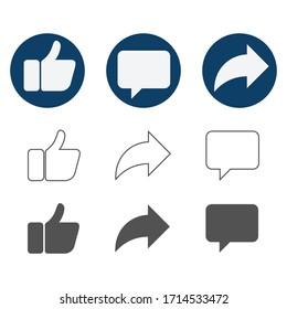 Social network signs. Vector illustration.