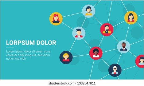 Social network - vector illustration