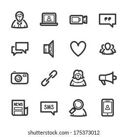 Social Networks icons. Professional vector icons for your website, application and presentation.