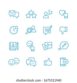 Social Networks Vector Icons set