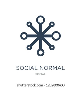 social normal icon vector on white background, social normal trendy filled icons from Social collection, social normal vector illustration