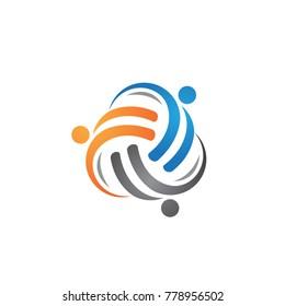Social relationship community logo