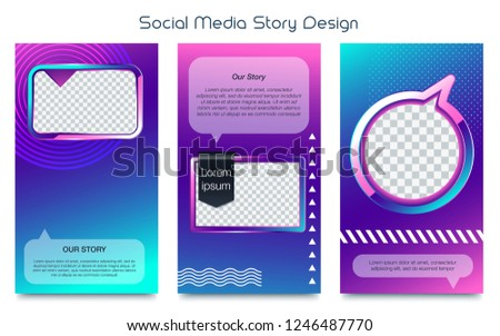 Social Stories Template Stock Vector Royalty Free 1246487770