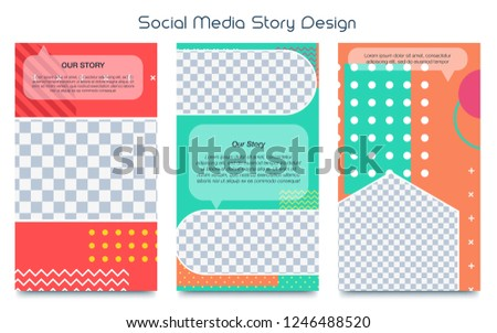 Social Stories Template Stock Vector Royalty Free 1246488520
