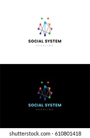 Social system logo template.