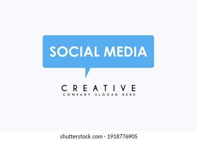 Social Talk Logo Template Design