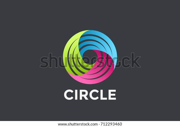 Social Teamwork Infinite Circle Logo Loop Stock Vector Royalty Free 712293460