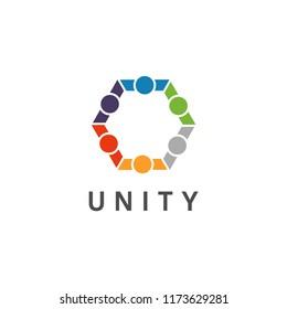 social unity logo design concept, community, relationship