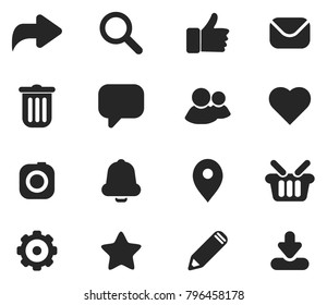 Social and website vectors icons.