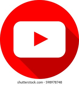 Social youtube media flat icon