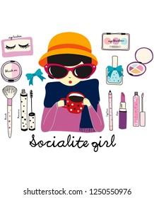 socialite girl vector