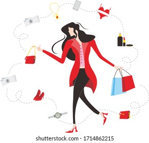 socialite illustration concept for your creative project