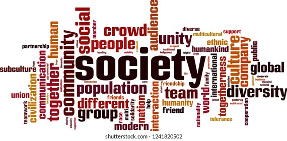 Society word cloud concept. Vector illustration
