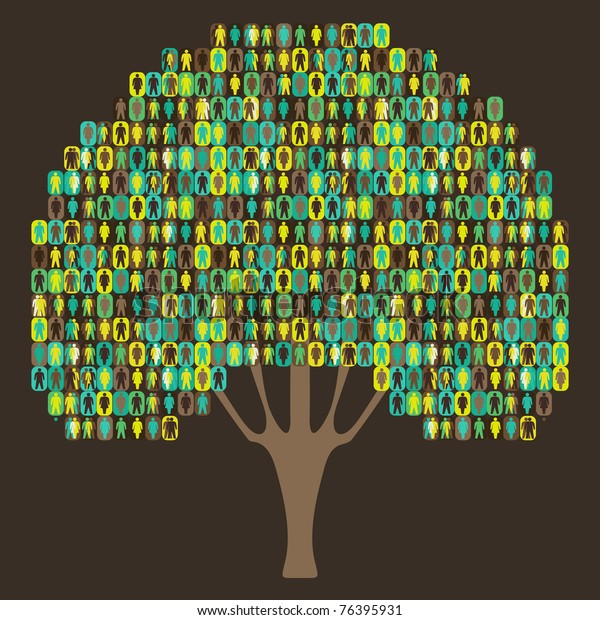 Sociology Tree - people pictogram
