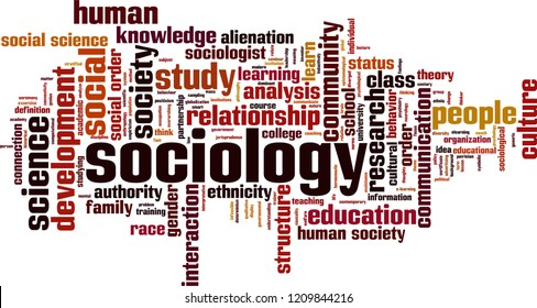 Sociology word cloud concept. Vector illustration