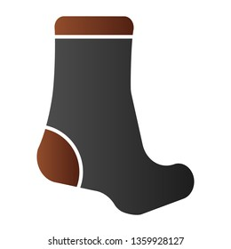 Sock flat icon. Textile clothing color icons in trendy flat style. Hosiery gradient style design, designed for web and app. Eps 10