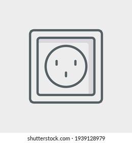 Socket Flat Icon Isolated On White Background