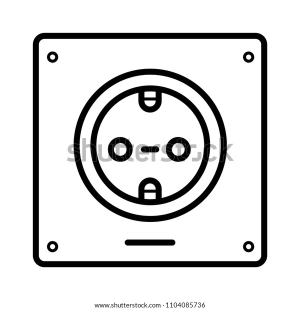 Socket Icon vector