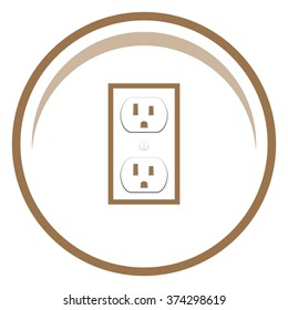 Socket Vector icon.
