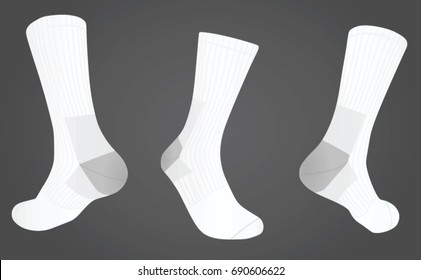 Socks front and back side view. vector illustration