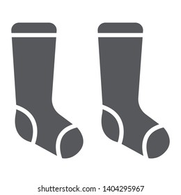 Socks glyph icon, clothes and fashion, hosiery sign, vector graphics, a solid pattern on a white background, eps 10.