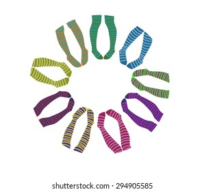 socks stockings vector